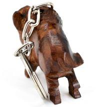 Hand Carved Ironwood Wood Folk Art 3D Buffalo Country Western Theme Keychain image 4