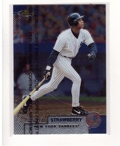 1999 Topps Finest #38 Darryl Strawberry Yankees Collectible Baseball Card - $0.99
