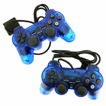 2X Blue Twin Shock Game Controller Joypad Pad for Sony PS2 Playstation 2 - $27.99