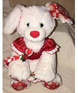 Build A Bear White Dog Plush Merry Mint Peppermint Christmas Puppy Stuff... - $19.79