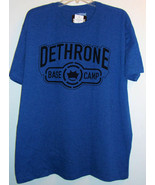 Deathrone Base Camp Shadow T Shirt Men's XXL Royal Heather 2XL Cotton Po... - $12.99