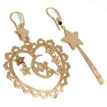Drop Earrings Silver 925, Fairies, Stars, Heart, Magic Wand, le Favole image 1