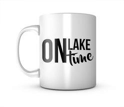 On Lake Time Holiday Ceramic Mug Coffee Tea Cup - $11.99
