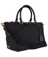 New Prada 1BA104 Borsa A Mano Black Logo Jacquard 2-Way Zip Purse Handbag - $975.15