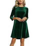 Urban CoCo Women's Velvet Party Dress 3/4 Sleeve Cocktail Dress - $56.89+