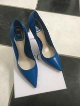 NIB 100% AUTH Christian Dior Cherie Blue Leather Pointy Pumps 10cm $650 - $398.00