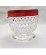 Vintage Indiana Glass Cranberry Flashed Diamond... - $7.00