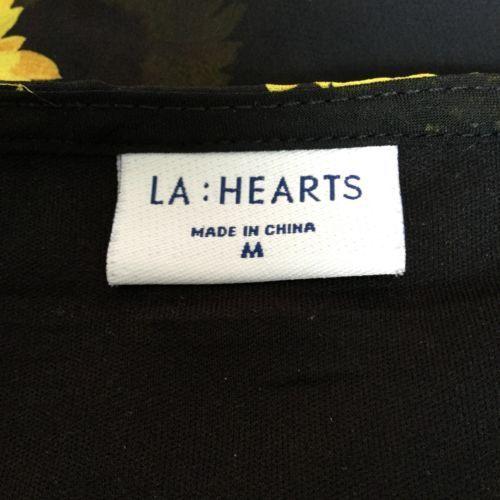 2789ab4f2720 LA HEARTS Sunflower Maxi Skirt M Black Sheer Festival Cruise Beach Cover Up  3T13
