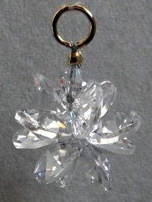 J'Leen Miniature Crystal Suncluster Charm - Clear Aurora Borealis Accent