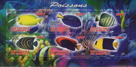 Fish Corals Marine Life Souvenir Sheet of 6 Stamps Mint NH - $14.38