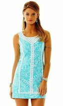 $198 Lilly Pulitzer MacFarlane Shorely Blue Sea Cups Lace Detail Shift D... - $157.50