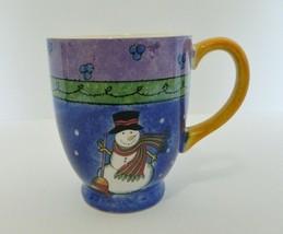The Sweet Shoppe Christmas Coffee Mug Cup by Sango Sue Zipkin Snowman 3041 - $14.73