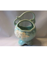 Weller Aqua Basket Planter with White Dogwood Bouquet, Looped Top Handle - $15.99