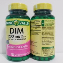 Spring Valley DIM 200 mg Supplement Women's Health 120 Capsules 02/22 Lot of 2  - $29.69
