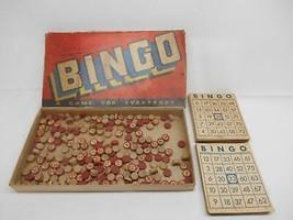 Old Vtg Whitman Publishing Co. BINGO GAME #2173 Wood Tokens Cardboard Cards - $29.69