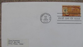 USA FIRST DAY OF ISSUE STAMP COVER 1968 Daniel Boone Frankport,KY, Sense... - $9.98