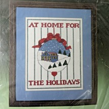Vintage Bucilla Christmas Home For The Holidays Counted Cross Stitch Kit 82247  - $18.52