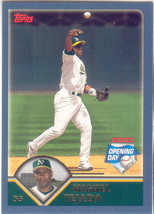 Miguel Tejada ~ 2003 Topps Opening Day #80 ~ Athletics - $0.30