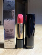 LANCOME Insta-Rose #369 Cream L'Absolu Rouge Hydrating Shaping LipColor ... - $23.75