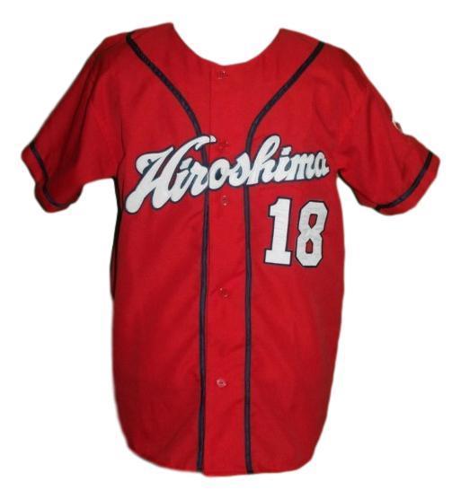 Kenta maeda  18 hiroshima carp baseball jersey red   1