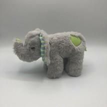 "Manhattan Toy Co  9"" Standing Baby Elephant Plush Heart On Tush Striped ... - $14.84"