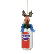 "Northlight 5"" Glitter Pepsi Can Reindeer Topper Christmas Ornament - $12.61"