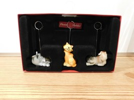 Kohls St Nicholas Square Cats Photo Place Holder in Box Set of 3 Christmas - $12.38