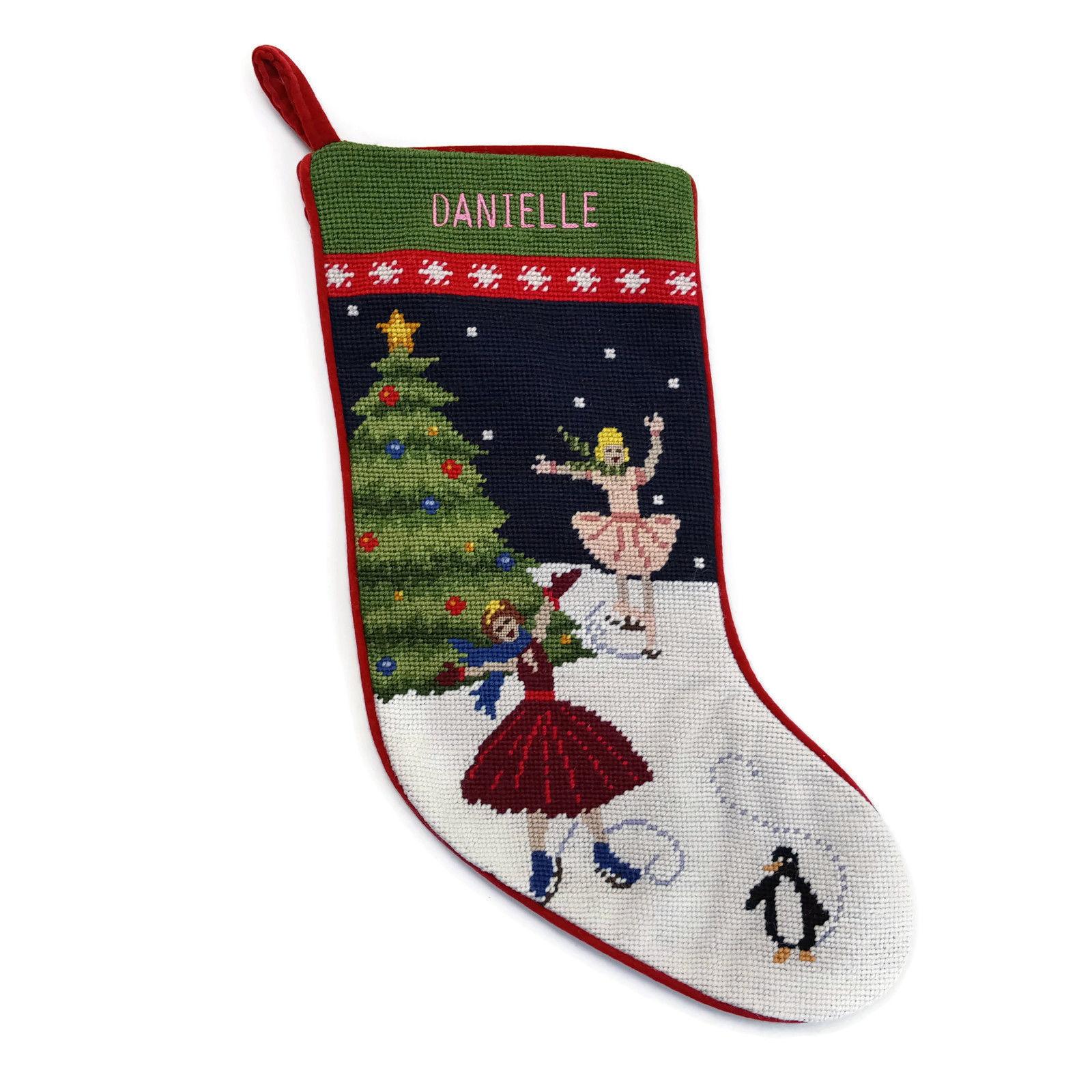 Lands End Needlepoint Christmas Stocking and 50 similar items