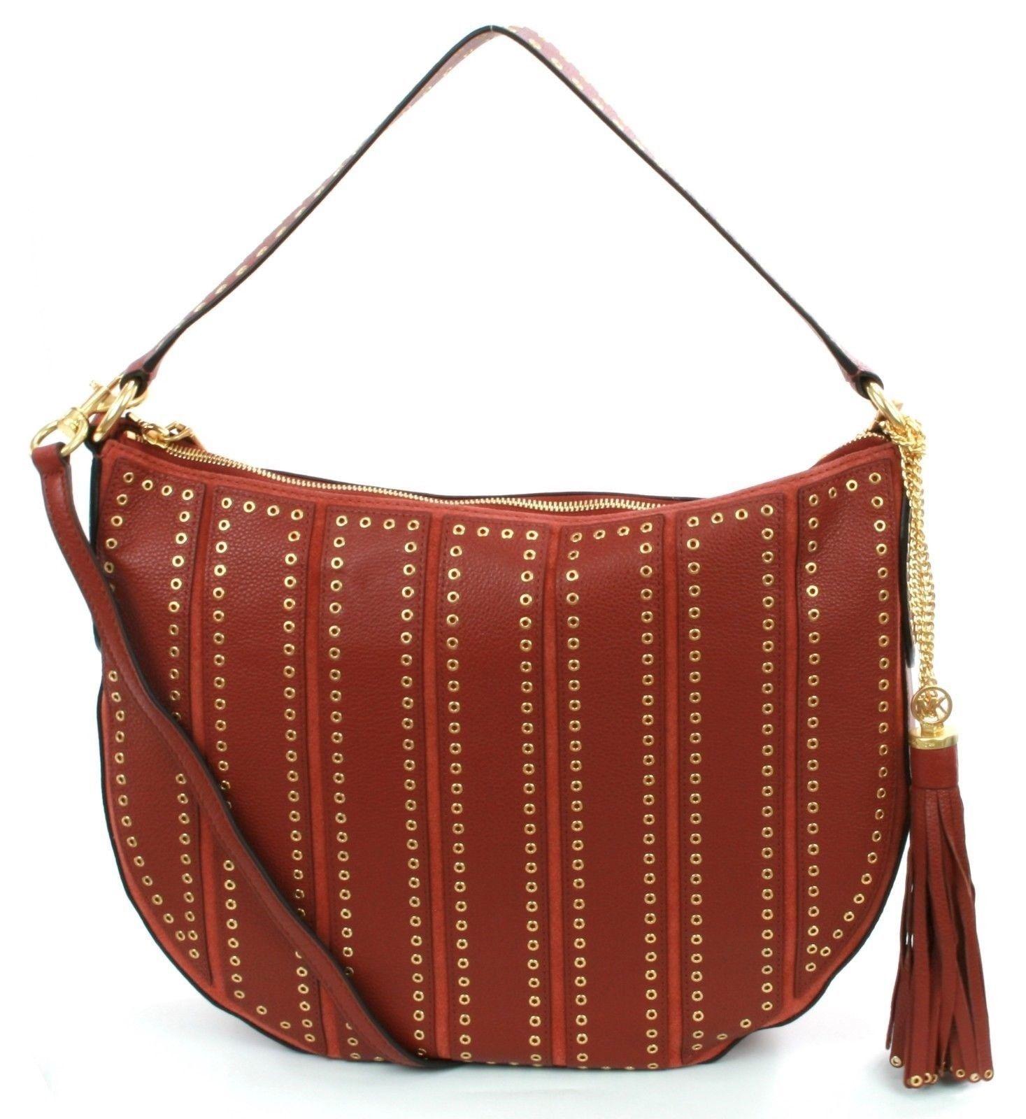 550a9959d886 Michael Kors Brooklyn Grommet Shoulder Bag and 50 similar items. 57