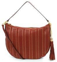 Michael Kors Brooklyn Grommet Shoulder Bag Brick Brown Medium Handbag - $6.095,09 MXN