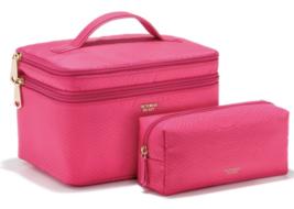NWT Victoria's Secret Logo Weekender Train Case - Hot Pink Python - $33.38