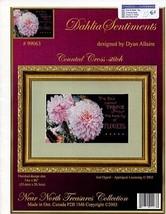 Dahlia Sentiments Cross Stitch Pattern Leaflet -30 Days To Shop & Pay! - $9.87