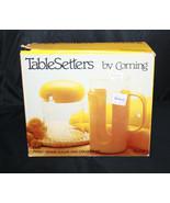 Vintage TableSetters by Corning Pyrex Glass Sugar Creamer Set Yellow Retro NIB - $29.08