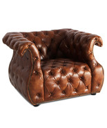 MarquessLife 100% Genuine Antique Aged Leather Tufted Couch Handmade Sin... - $1,705.00