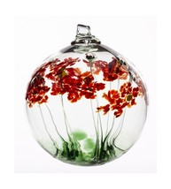 Kitras 6-Inch Blossom Ball Glass Ornament, Greetings - $58.01