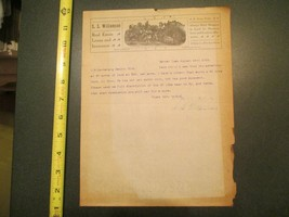 Garner Iowa S S Williamson Real Estate Loans Insurance 1915 IA Letterhea... - $10.99