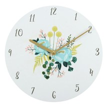 MDF Botanical Wall Clock; 8 - $18.70