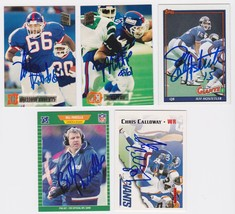 New York GIants Signed Autographed Lot of (5) Football Cards - Parcells,... - $14.99