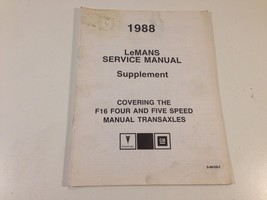 1988 Pontiac LeMans Shop Service Manual Supplement S-8810S-T F16 Four & ... - $14.99