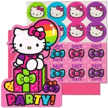 Hello Kitty Rainbow Save The Date Invitations 8 Count Birthday Party Supplies - $7.87