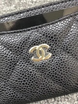 BNIB AUTH CHANEL 2019 BLACK QUILTED CAVIAR CARD HOLDER WALLET  image 6
