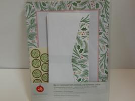 Gartner Studios Be Merry Stationery Letterhead Envelope & Seals Holly - $10.84
