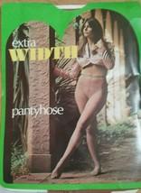 70s 100% Nylon Pantyhose Extra Wide Vtg NOS Tantone Tall Model Panty Hose - $32.18