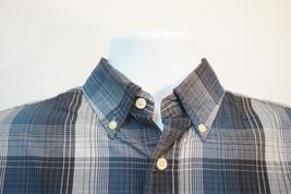 23f77fd3a Puritan Lightweight Button-Front Shirt, Plaid, Men's Small 7141