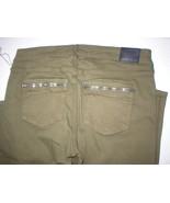 New Womens True Religion Brand Jeans NWT Joan Smalls 32 Skinny Army Oliv... - $127.60