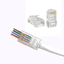 100 Pcs CAT6 EZ RJ45 Network Cable Modular Plug Connector - ₹964.63 INR