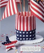 July 4th Fun Uncle Sam Hat Star Plastic Canvas Pattern - 30 Days To Shop... - $0.90