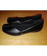 EASY STREET COMFORT WAVE LADIES BLACK NON-SLIP FLATS-8.5N-WORN ONCE-VERY... - $11.99
