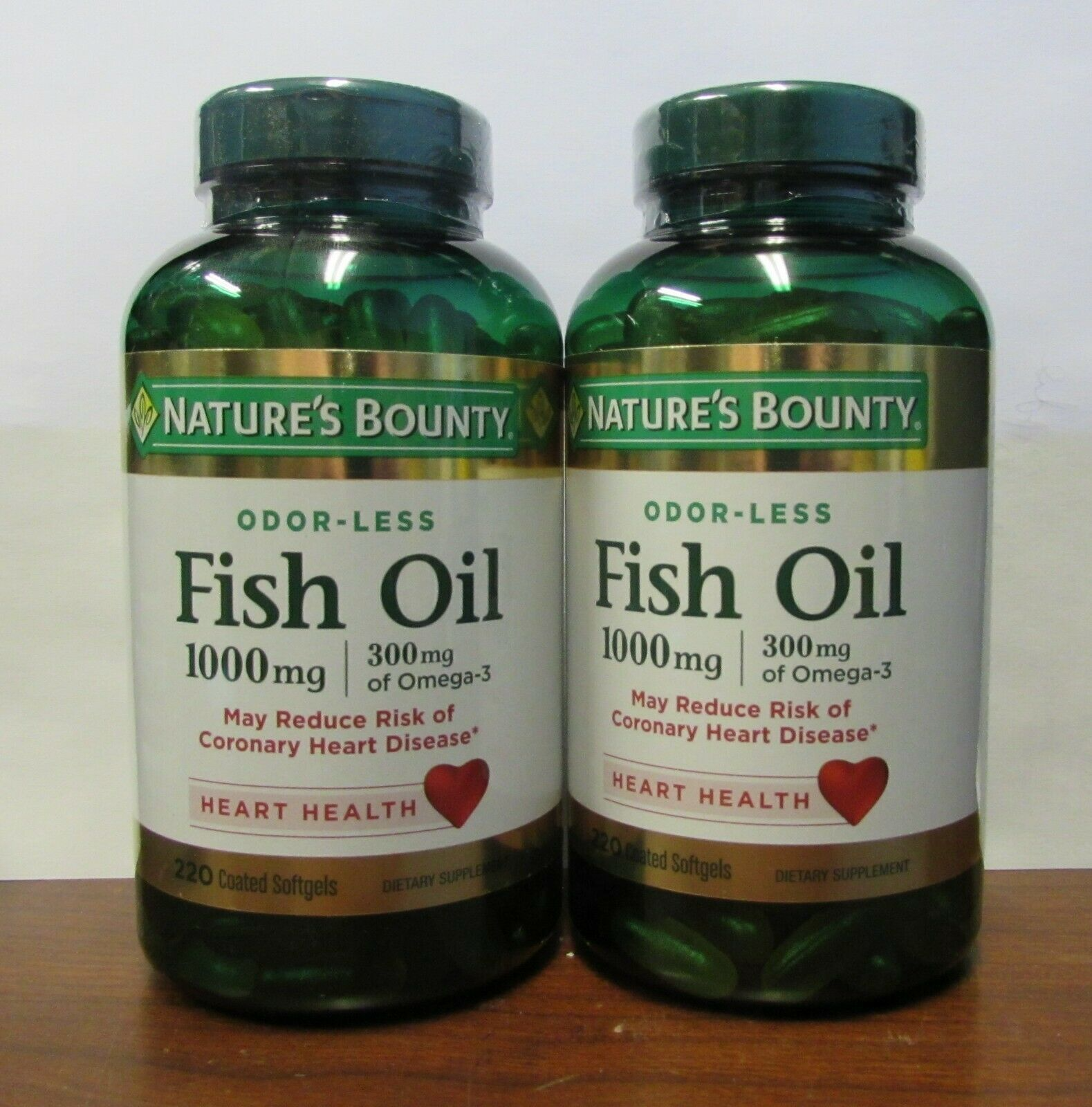 NATURE'S BOUNTY ODORLESS FISH OIL 1,000 MG 220 SOFTGELS EA (2 PACK) EXP 11/2021 - $28.99