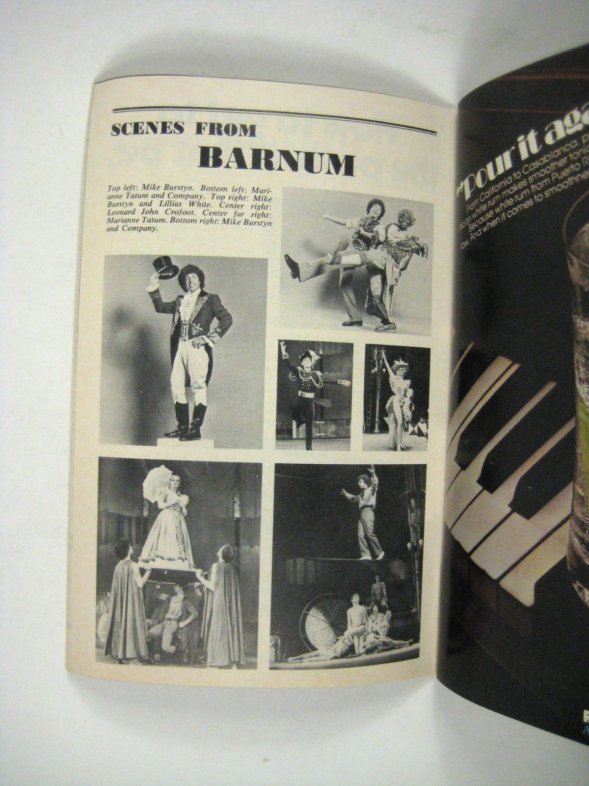 Barnum Playbill 1982 Ticket St James Theater Mike Burstyn Deborah Reagan Tatum